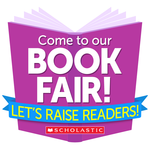 Scholastic provided social media image promoting book fair